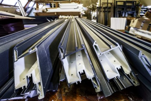 Steel beams in mnaufacturing