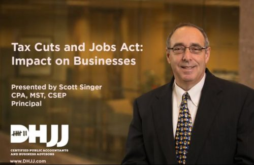Scott Singer Tax Cuts and Jobs Act Webinar