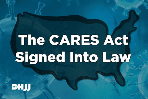 Cares signed into law.