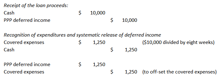 PPP loan accounting Option