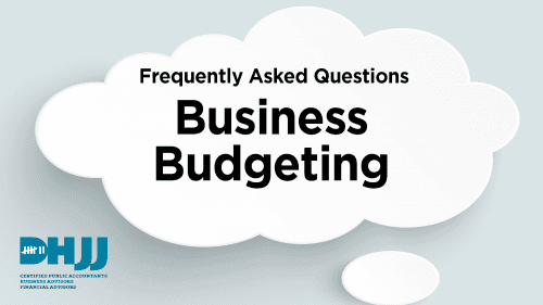 Text reading Business Budgeting